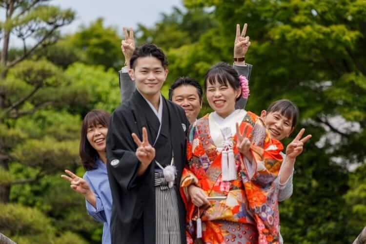 家族様と一緒に花田苑ロケーション撮影.フォトウェデング.埼玉
