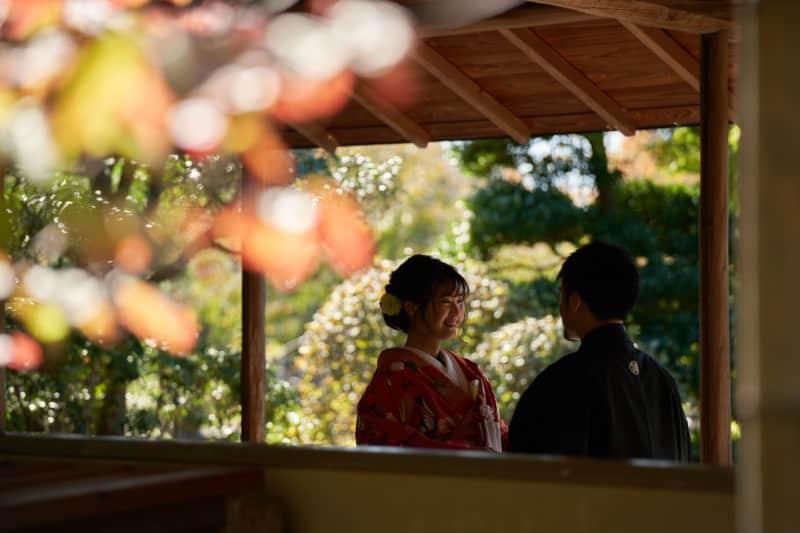 埼玉和装前撮り,花田苑ロケーション撮影,フォトウェディング