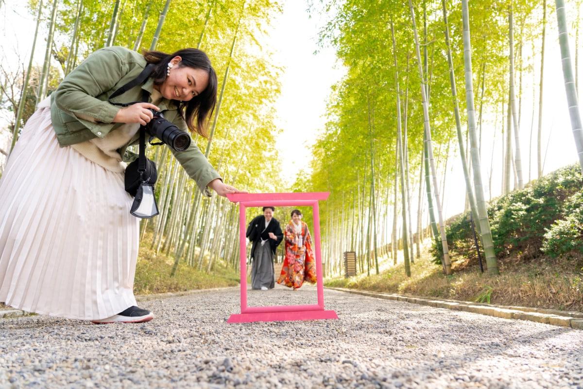 花田苑ロケーション撮影,和装前撮り,洋装フォトウェディング,スタジオ撮影,家族と一緒に撮影可,持ち込み可,自撮り可