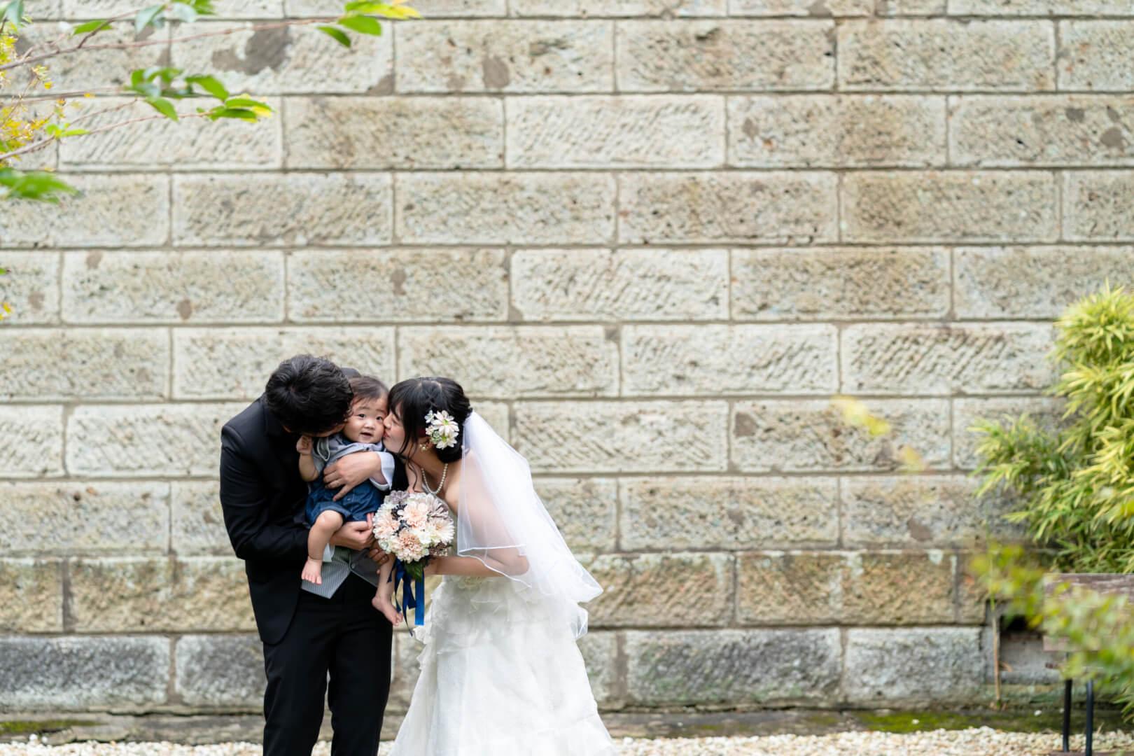 洋装フォトウェディング , 洋装スタジオ撮影, 家族と一緒に撮影, ペットと一緒に撮影, 埼玉前撮り,