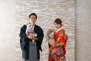 スタジオフォトウェディング, 和装スタジオ撮影, 洋装スタジオ撮影, 埼玉前撮り, ペットと一緒に撮影,