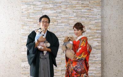 大事な家族(ペット)と一緒にスタジオ撮影